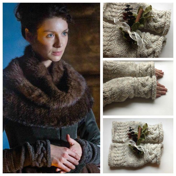 fingerless cuffs, outlander, knitting