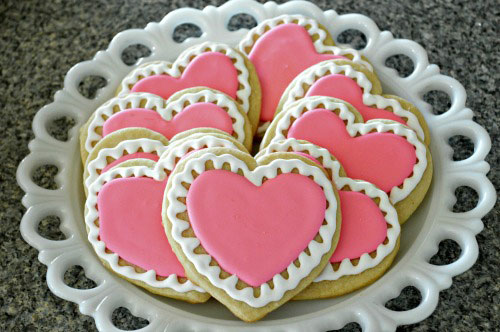 Iced Valentines Day Cookies