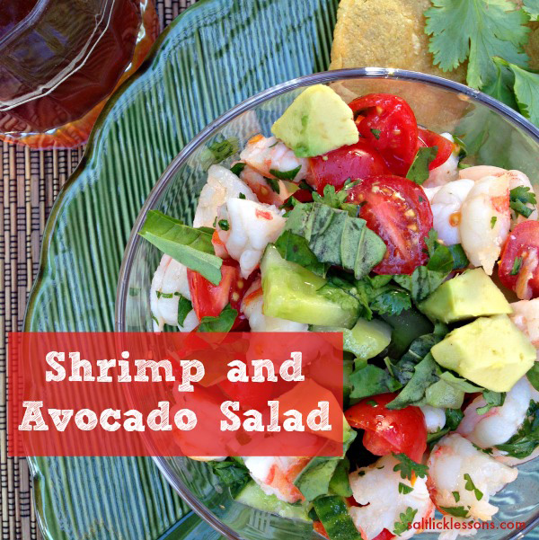 avocado shrimp salad, perfect summer salad, delicious avocado and shrimp salad