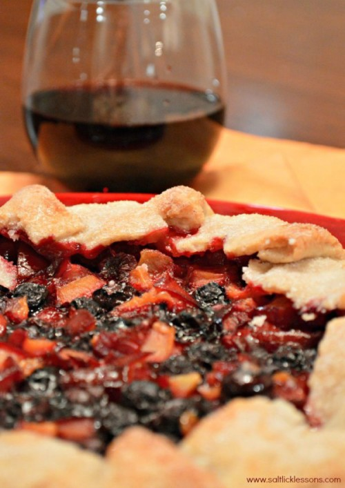 plum blueberry galette
