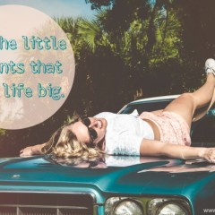 Sunday Sentiment {23 – the one about the little moments}