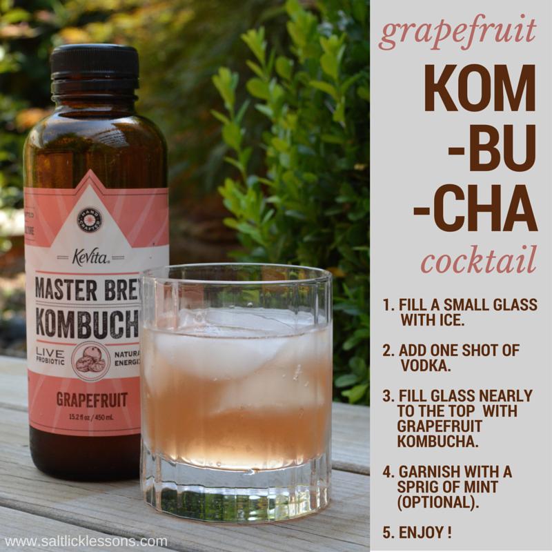 kombucha cocktail, kombucha, cocktail, grapefruit kombucha