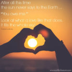 Sunday Sentiment {27 – the one about a love like that}
