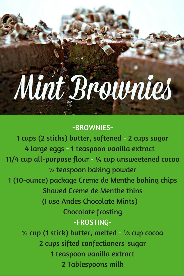 Andes Chocolate Mint Brownies - Salt Lick Lessons