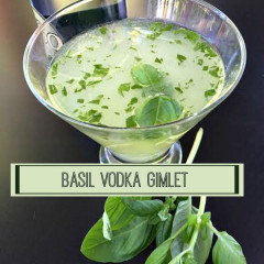 Basil Vodka Gimlet Cocktail