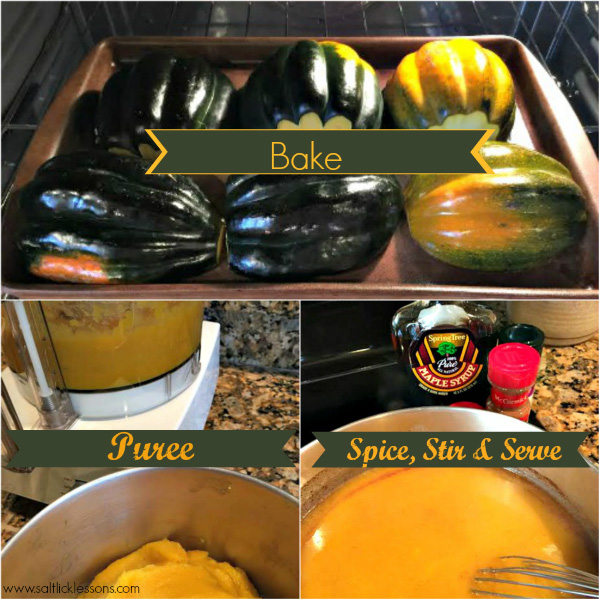 steps to make autumn acorn squash soup