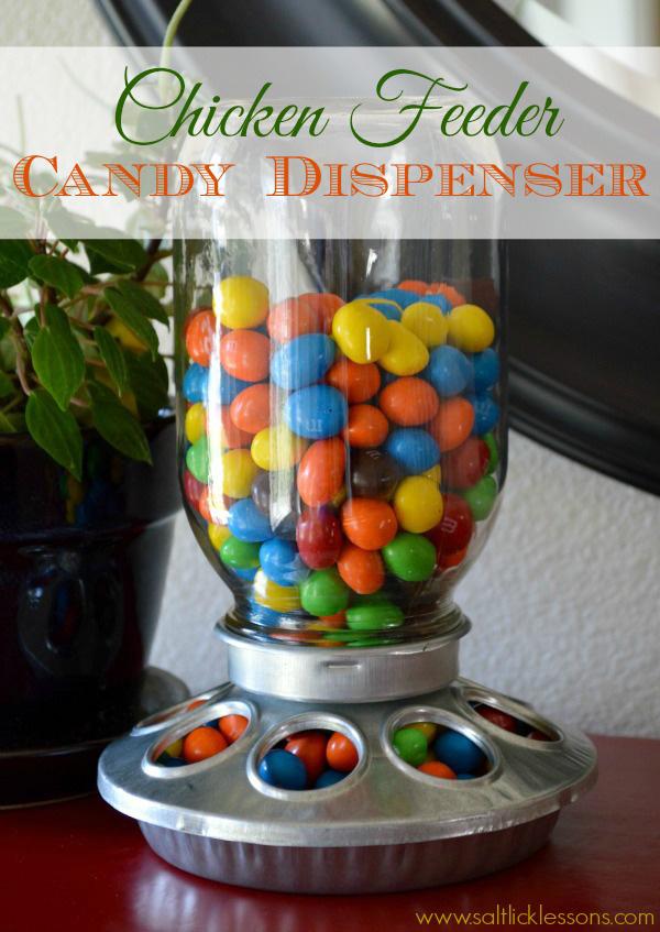 chicken feeder candy dispenser, diy gift