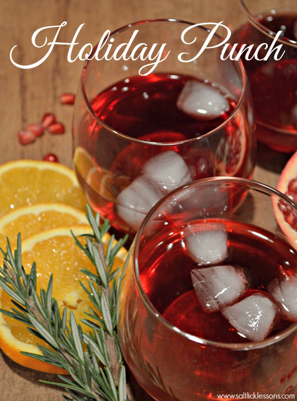 Holiday Punch with Pomegranate Juice