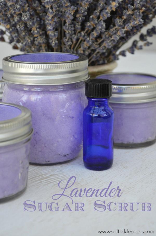 lavender sugar scrub, diy sugar scrub