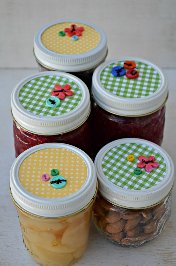 canning jar lids, diy gift