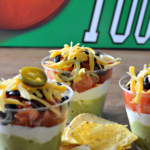 Individual Layered Chip Dip for Superbowl Sunday