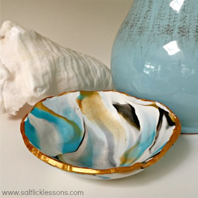 Beautiful Marbled Clay Bowls Salt Lick Lessons